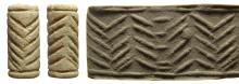 A Near Eastern pale blue frit cylinder seal