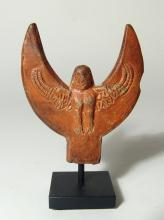 A handle from Roman lamp depicting a harpy