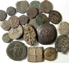 22 Roman/Byzantine/Islamic silver and coins and tokens