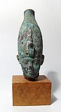 Beautiful Egyptian bronze head of Osiris
