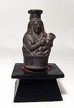 Egyptian terracotta black-ware bottle
