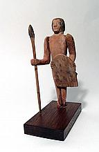 Egyptian wood figure of a Nubian soldier