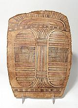 Egyptian cartonnage foot panel from a coffin