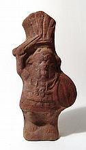 Egyptian terracotta figure of the god Bes