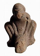 Terracotta figure of grotesque with enormous phallus