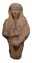 A terracotta figure of the god Min, Egypt
