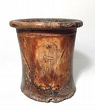 Calcite vessel inscribed with the cartouche of Pepi I Meryre