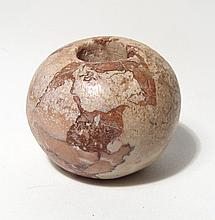 A nice Egyptian red breccia mace head