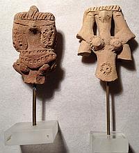 Busts from Egyptian terracotta fertility 'dolls'