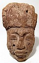 Nice Egyptian wood mummy 'mask'