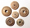 A lot of 5 Roman bone spindle whorls