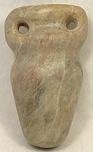 An Egyptian blue marble cosmetic vessel