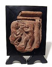 Egyptian relief fragment depicting two musicians