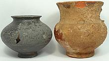 A lot of 2 Near Eastern terracotta vessels