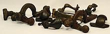 A lot of 9 bronze Roman fibulae