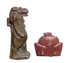 A pair of Egyptian amulets, Late Period, c. 664 - 30 BC
