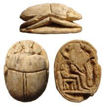 A nice Egyptian steatite scarab, New Kingdom