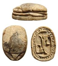 A choice Egyptian steatite scarab, 2nd Intermediate Period