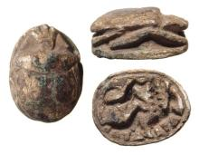 Egyptian steatite scarab, Late New Kingdom