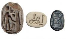 A lot of 3 Egyptian scarabs