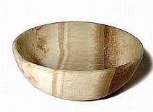 Ancient Egyptian-style alabaster bowl
