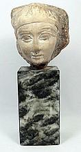 An Egyptian limestone trial piece