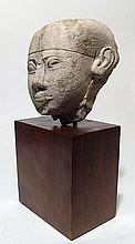 Egyptian limestone head of a man