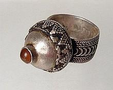 A European silver ring, 15th-16th Century