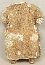 A Sabaean fragmented gypsum figure