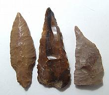 Egyptian Pre-Dynastic assemblage of 3 flint tools