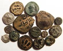 A lot of 15 mixed ancient coins, mostly Greek silver and bronze