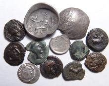 A lot of 15 mixed Celtic silver and bronze coins