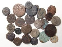 Mixed group of 25 Medieval Islamic coins