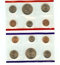 1996 P & D UNITED STATES MINT SETS 10 COINS C.O.A.