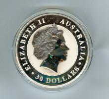 2014 $30 DOLLAR AUSTRALIA 1 KILO SILVER PF KOOKABURRA