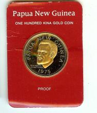 1975 PAPUA NEW GUINEA ONE HUNDRED DOLLAR GOLD COIN PF