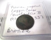 ROMAN IMPERIAL COPPER COIN CONSTANTINE 2ND