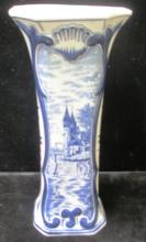 DELFT HOLLAND PORCELAIN BLUE & WHITE VASE