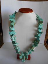 VINTAGE HAND CARVED TURQUOISE 50 ANIMAL NECKLACE