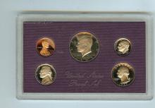 1985 S UNITED STATES FROSTED PROOF SET C.O.A. BOX PAPER