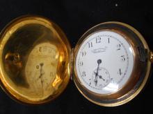 18k Yellow Gold American Waltham Watch Co. Pocket