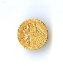 1909 D $5 gold Indian Head