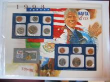 1993 POSTAL COM. SOCIETY MINT SETS STAMP UNCIRCULATED