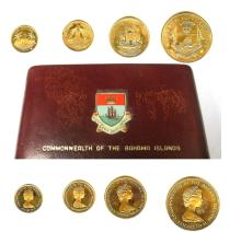 1971 GOLD COMMONWEALTH OF THE BAHAMA ISLANDS 4 COIN SET