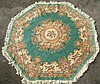 Octagonal Chinese Tientsin wool carpet, green