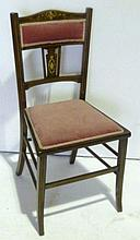Edwardian bedroom chair with foliate and scroll