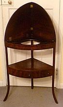 19th century mahogany corner wash stand with