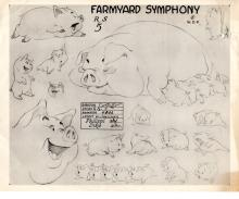 Model Sheet Disney 1938 Farmyard Symphony