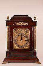 Westmeinster eight bell mahogony brackett clock.
