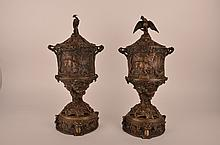 Pierre-Jules Mene (French:1810-1879) pair of bronze